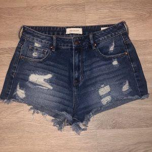 Pacsun dark wash jean shorts
